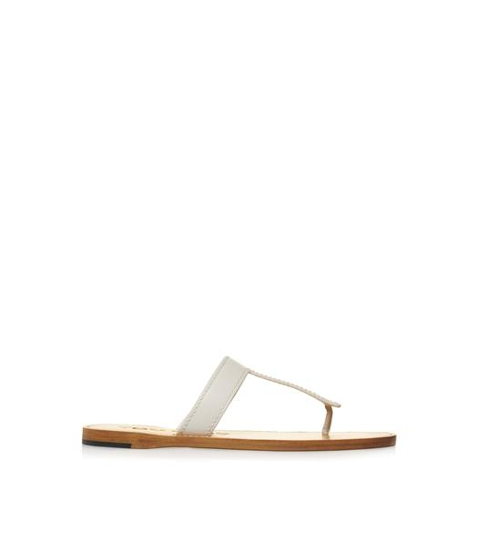 LEATHER TF THONG SANDAL