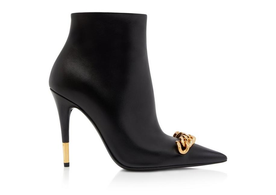 NAPPA LEATHER ICONIC CHAIN ANKLE BOOT A fullsize
