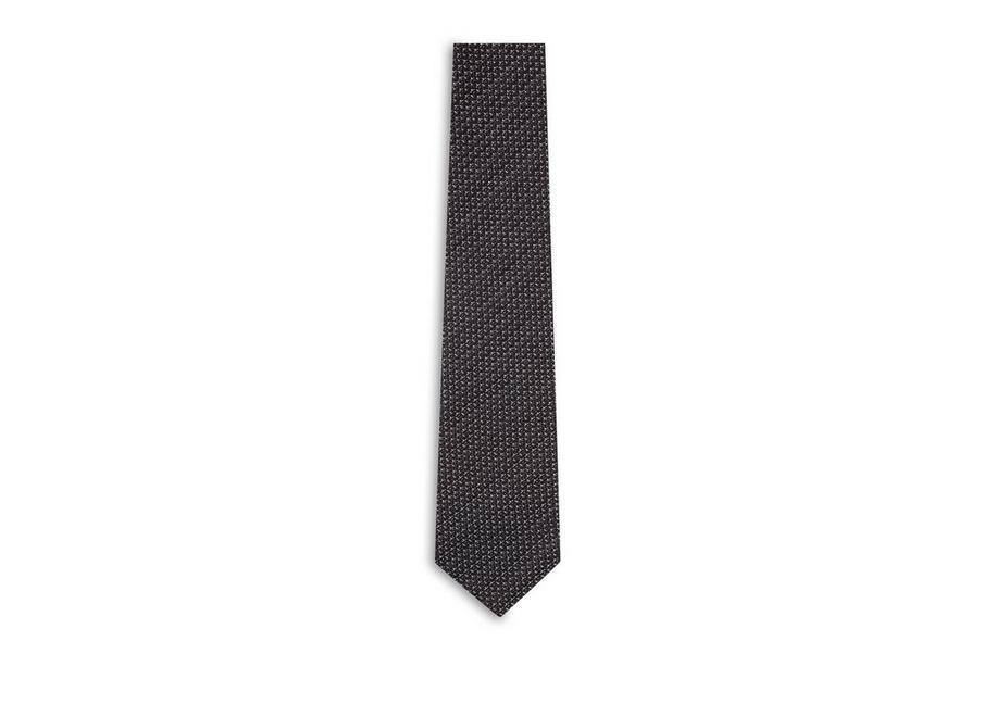 BASKETWEAVE SILK WOOL  TIE A fullsize