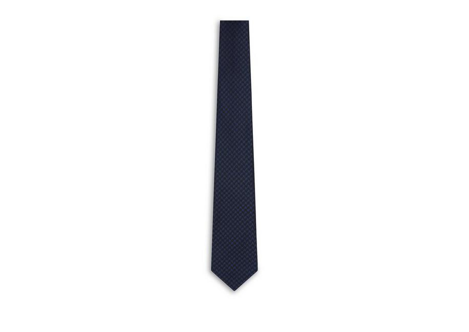 LARGE HOUNDSTOOTH 9CM TIE A fullsize