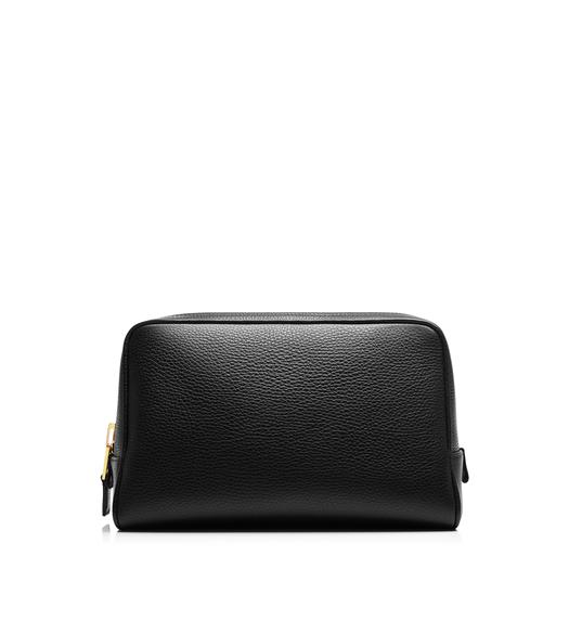 Leather Single Zip Toiletry Case