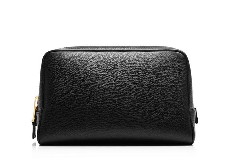 Leather Single Zip Toiletry Case A fullsize