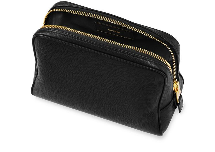 Leather Single Zip Toiletry Case C fullsize
