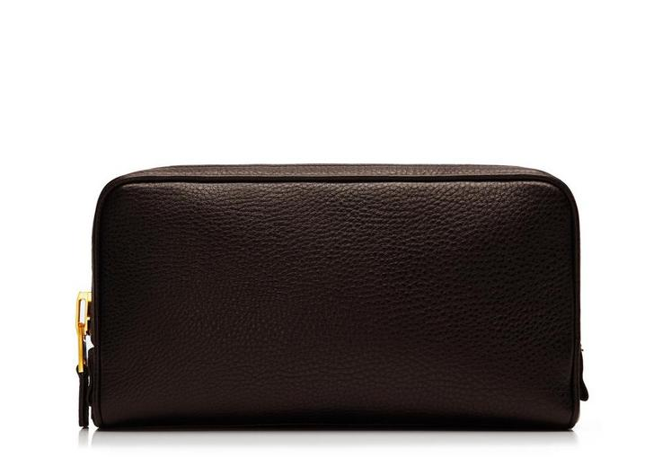 Leather Double-Zip Toiletry Case A fullsize