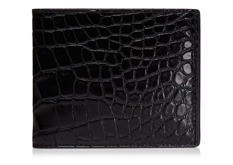Shiny Alligator Bifold Wallet A fullsize