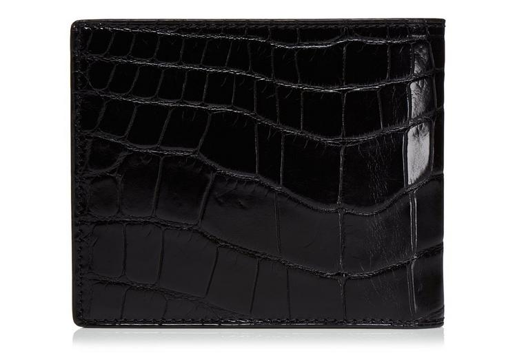 Shiny Alligator Bifold Wallet C fullsize