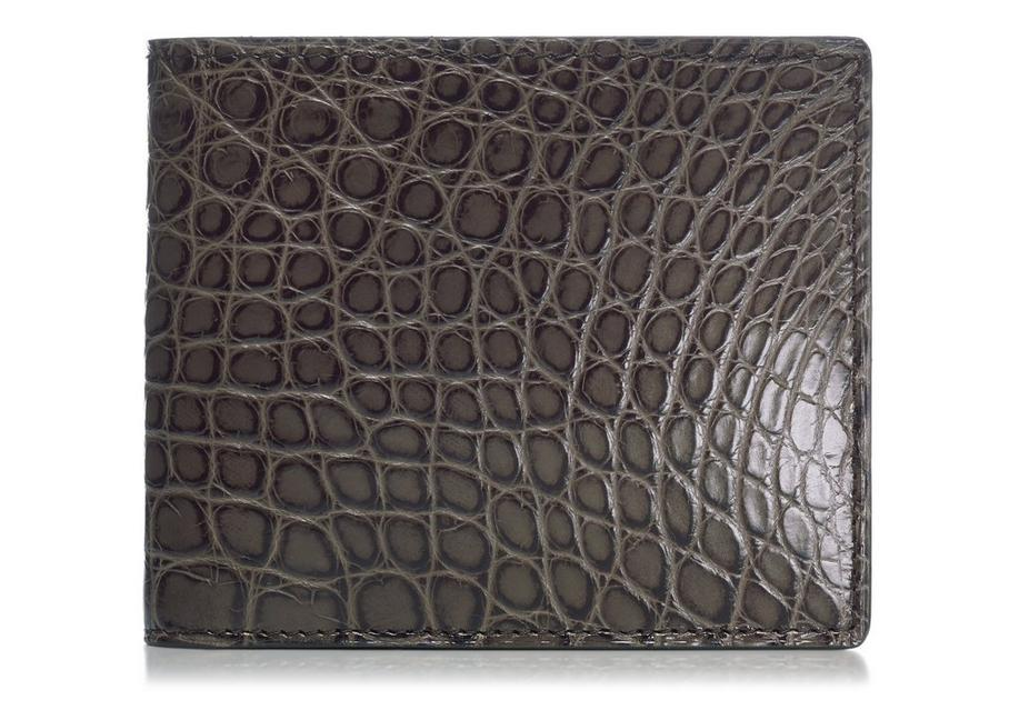Shiny Alligator Bifold Wallet A fullsize