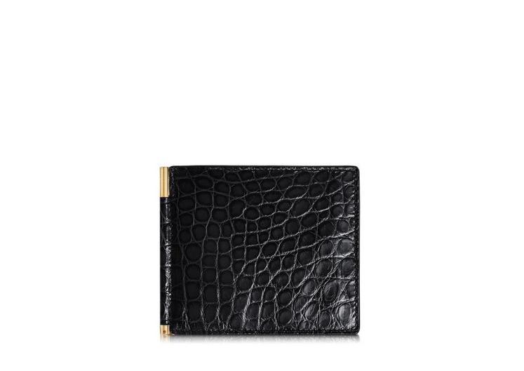 Alligator Money Clip Bifold Wallet A fullsize