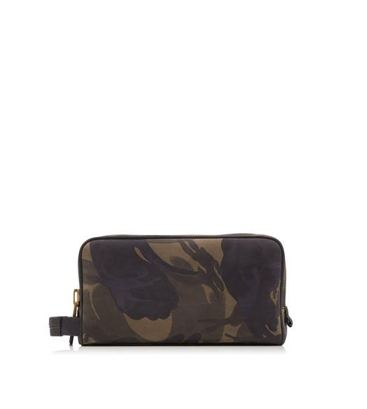 CAMOUFLAGE DOUBLE ZIP DOPP KIT