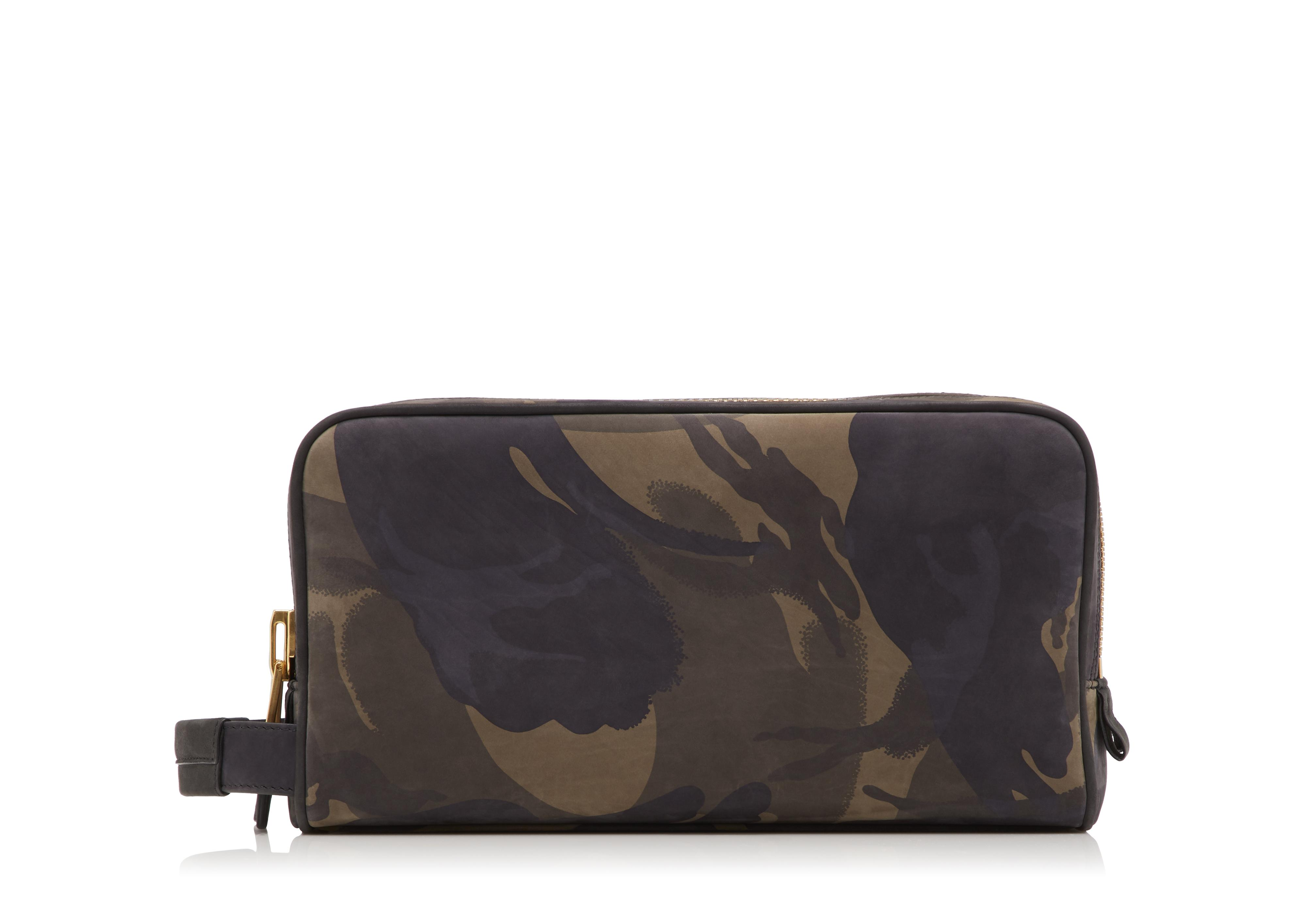 CAMOUFLAGE DOUBLE ZIP DOPP KIT A thumbnail