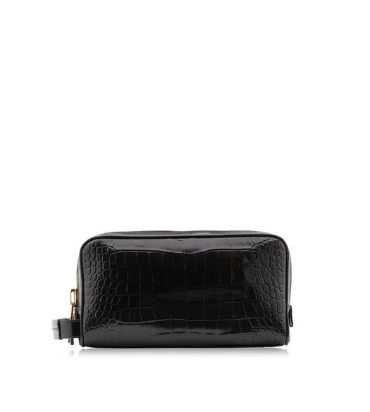 ALLIGATOR DOUBLE ZIP DOPP KIT