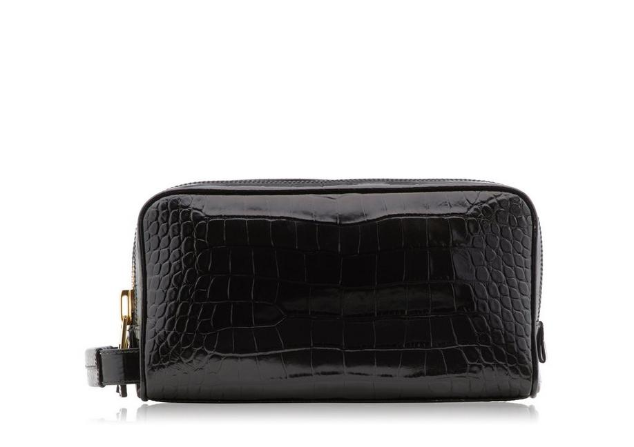 ALLIGATOR DOUBLE ZIP DOPP KIT A fullsize