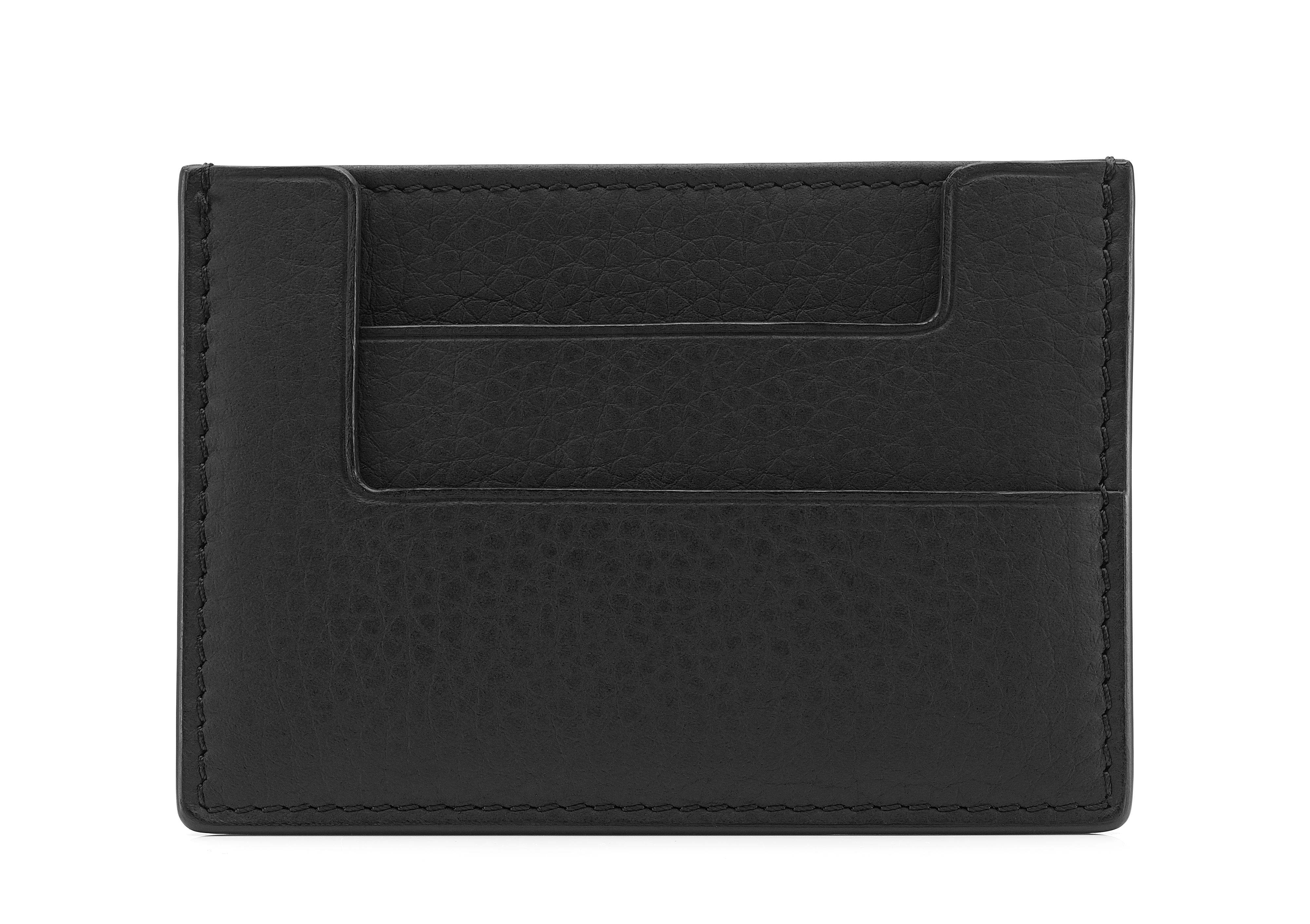 GRAINED LEATHER CLASSIC CARD HOLDER B thumbnail