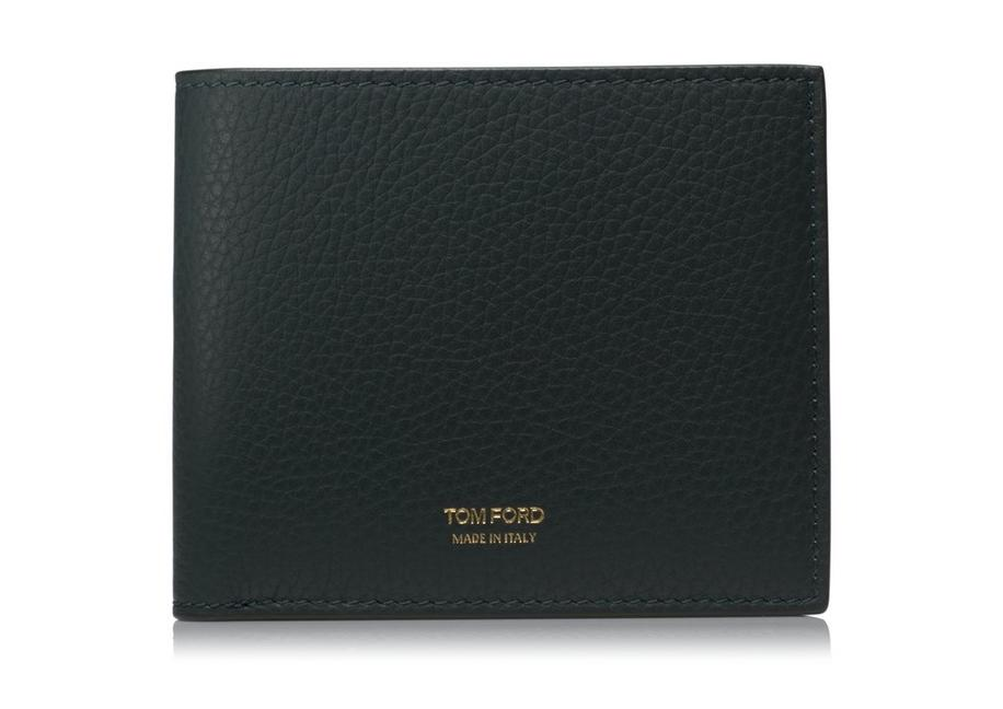 GRAINED LEATHER BIFOLD WALLET A fullsize