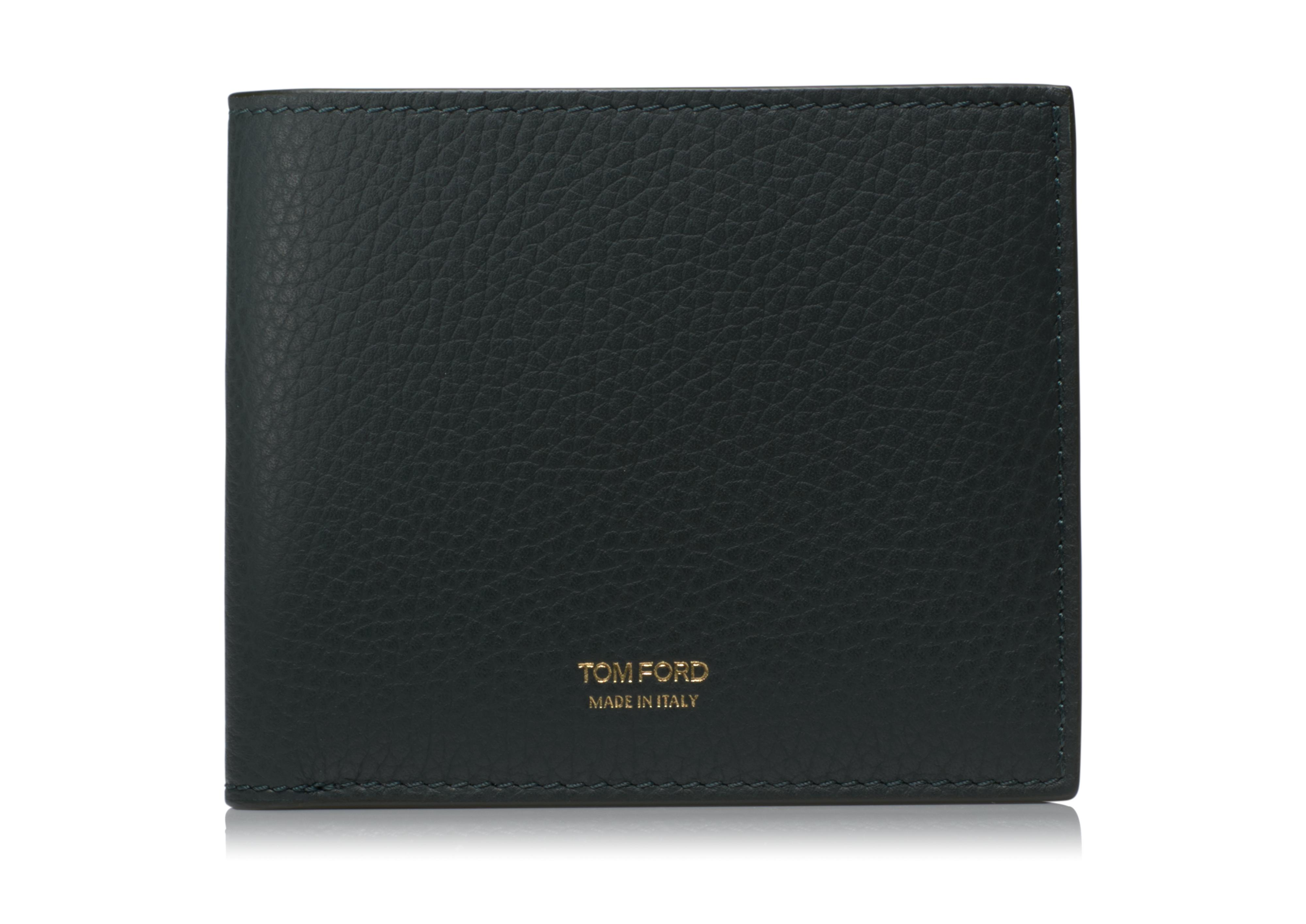 GRAINED LEATHER BIFOLD WALLET A thumbnail