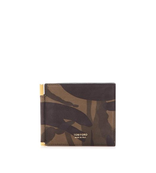 CAMOUFLAGE MONEY CLIP WALLET