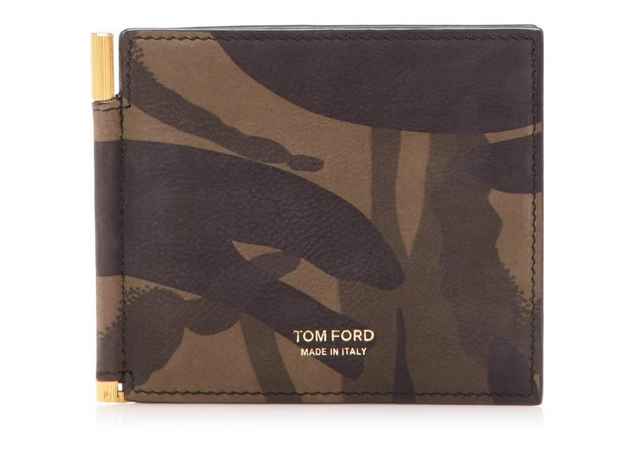 CAMOUFLAGE MONEY CLIP WALLET A fullsize