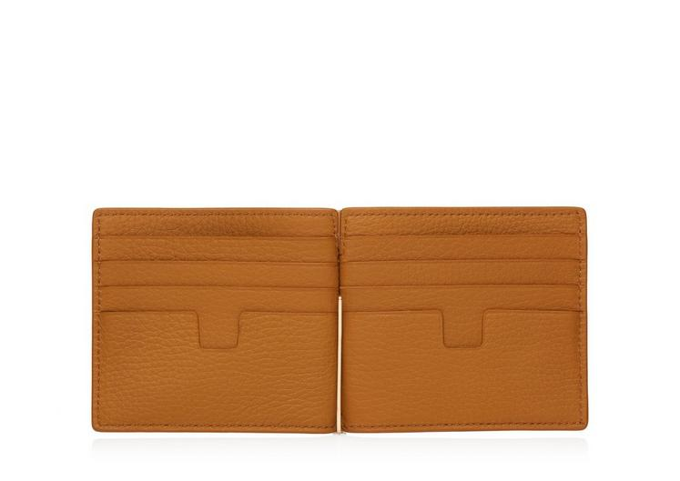 GRAINED LEATHER MONEY CLIP WALLET B fullsize