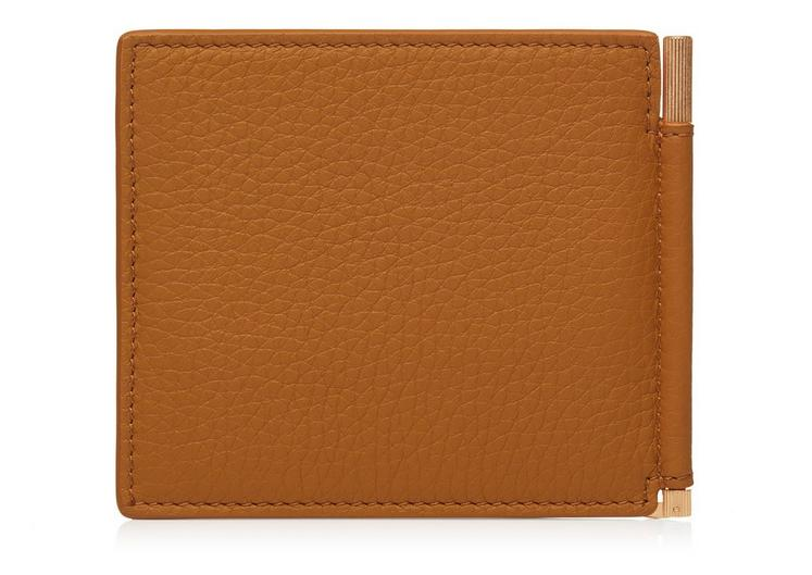 GRAINED LEATHER MONEY CLIP WALLET C fullsize