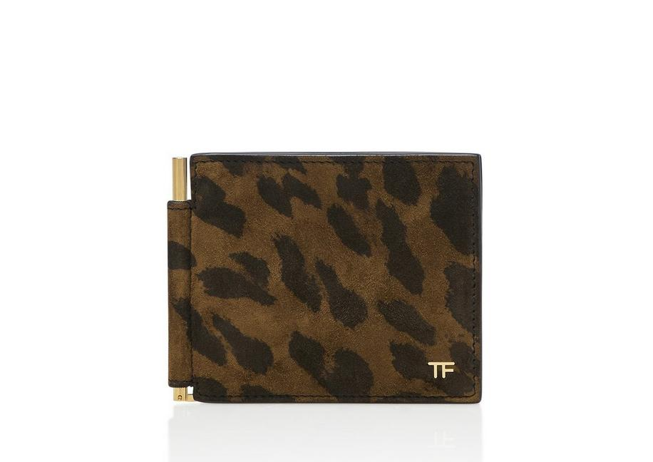 LEOPARD MONEY CLIP WALLET A fullsize