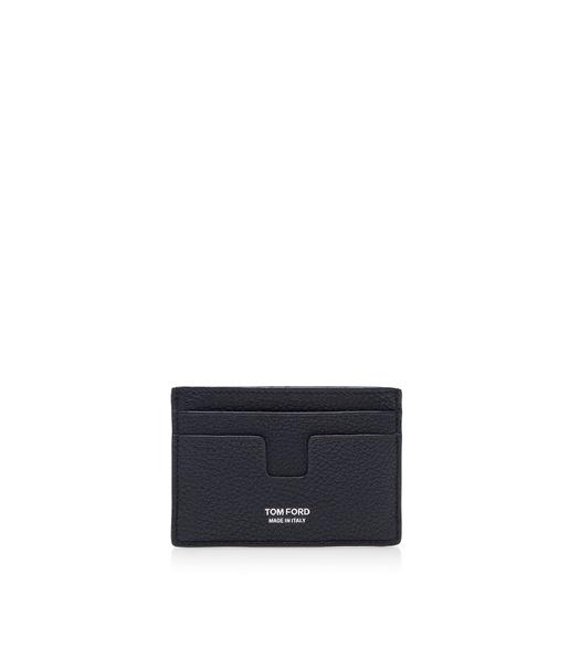Tom Ford Brown Grained Leather Card Case