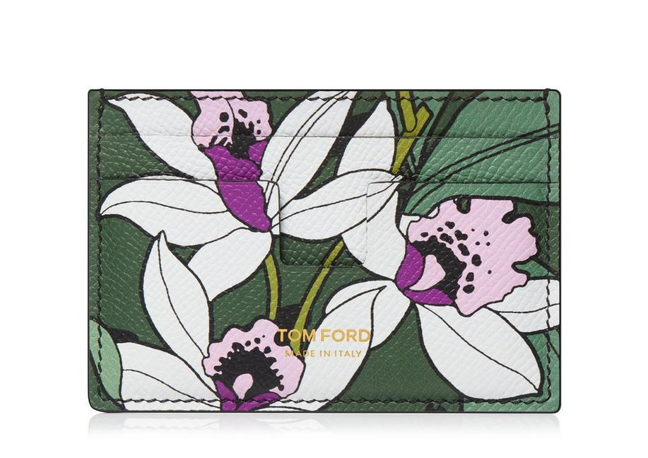 TROPICAL GRAIN LEATHER CLASSIC CARDHOLDER A fullsize