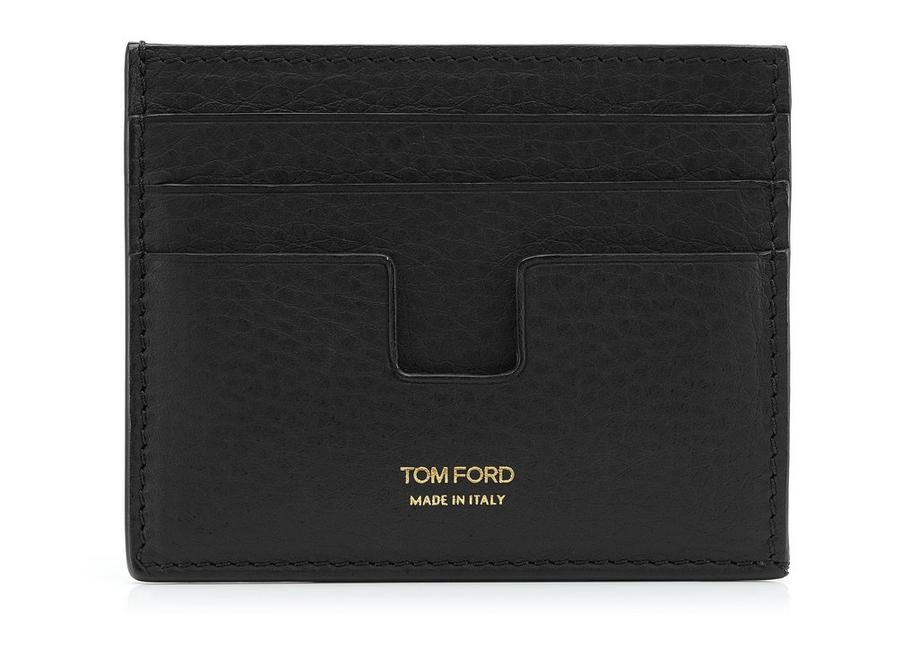 GRAINED LEATHER OPEN SIDE CARD HOLDER A fullsize