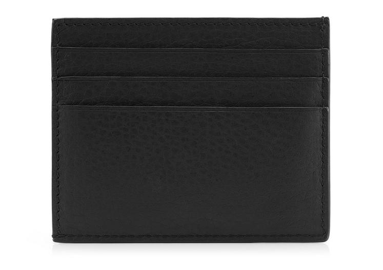 GRAINED LEATHER OPEN SIDE CARD HOLDER B fullsize