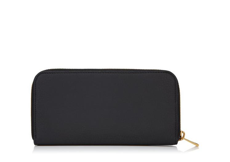 GRAINED LEATHER LARGE ZIPPED WALLET C fullsize