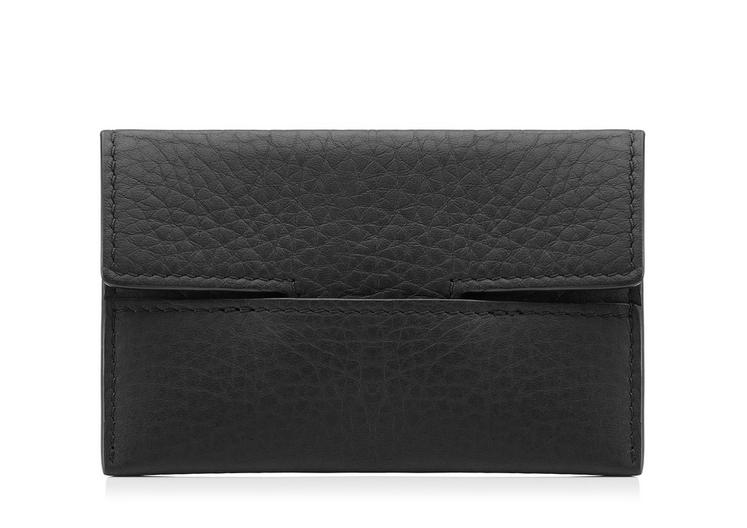 GRAINED LEATHER ENVELOPE CARD HOLDER A fullsize