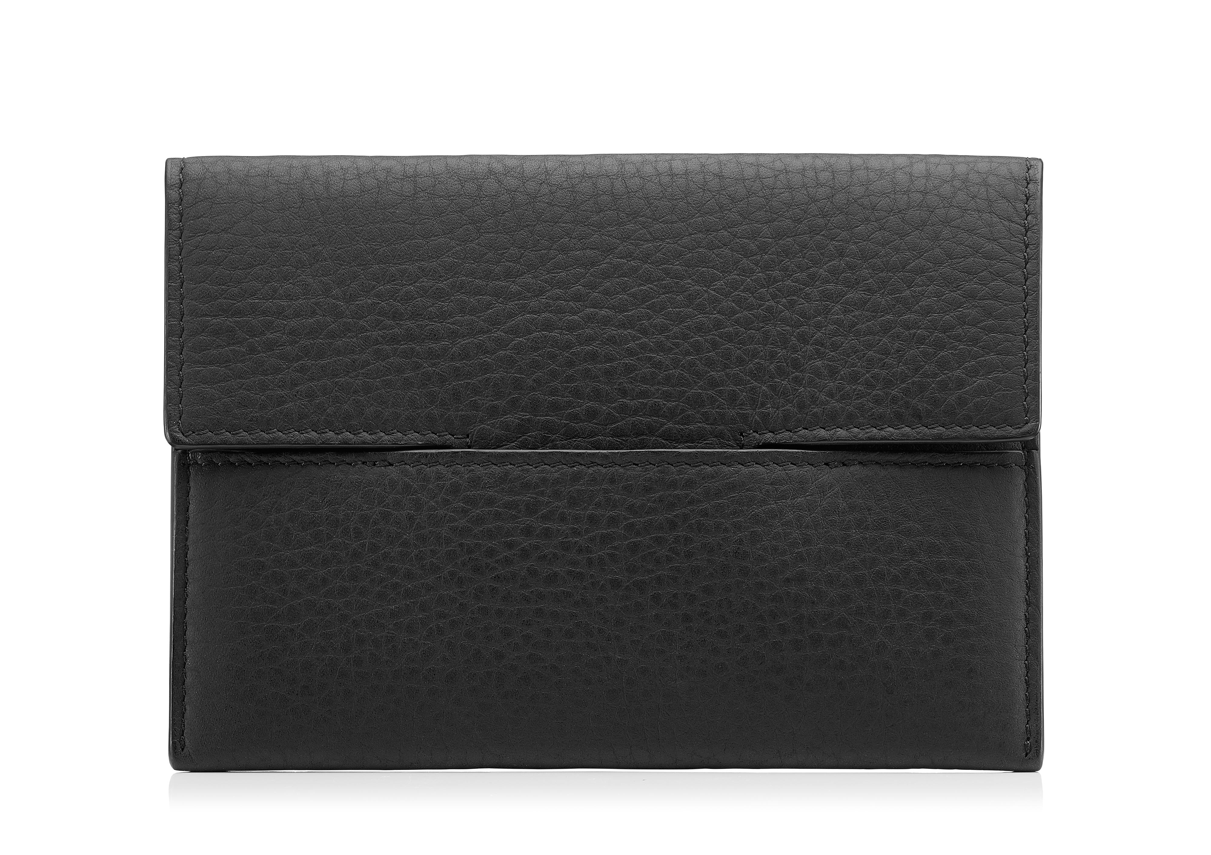GRAINED LEATHER ENVELOPE PASSPORT HOLDER A thumbnail
