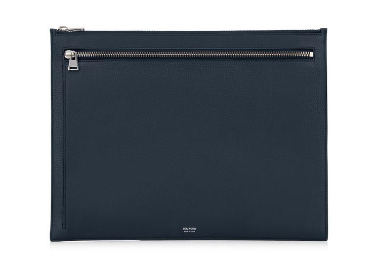 GRAINED LEATHER FLAT PORTFOLIO A fullsize
