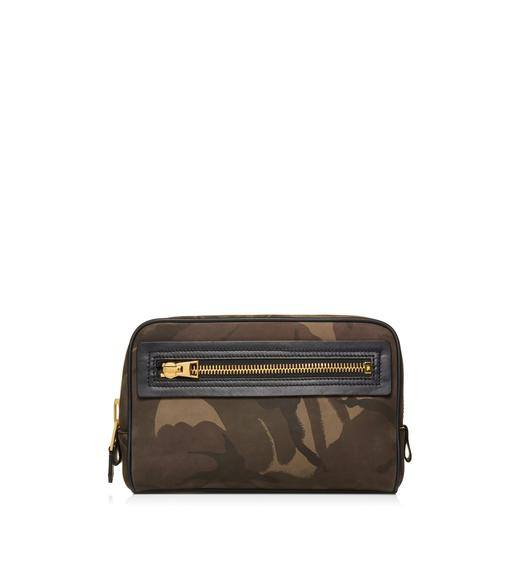 CAMOUFLAGE SINGLE ZIP DOPP KIT