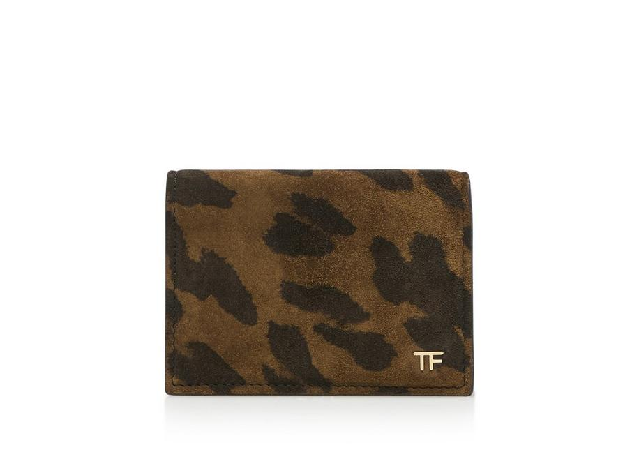 LEOPARD T FOLD CARD HOLDER A fullsize