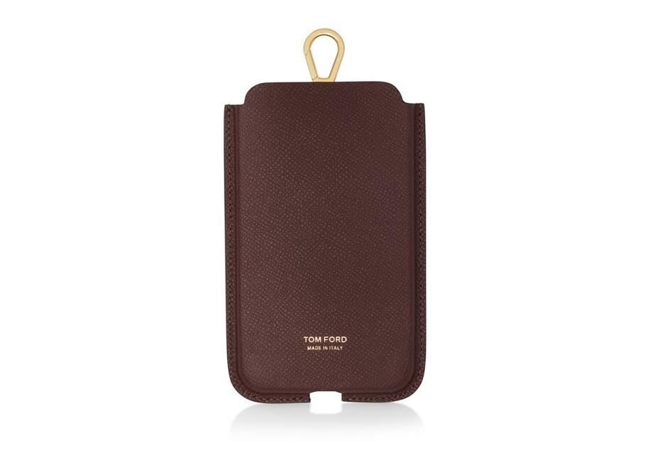 GRAIN LEATHER IPHONE CASE WITH STRAP A fullsize