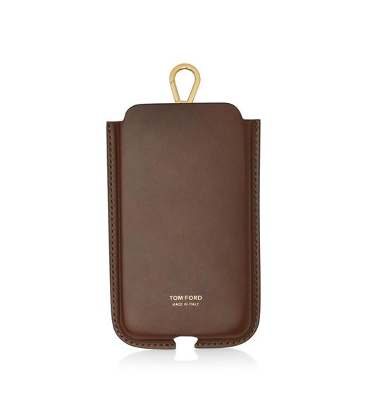 SMOOTH LEATHER IPHONE CASE WITH STRAP