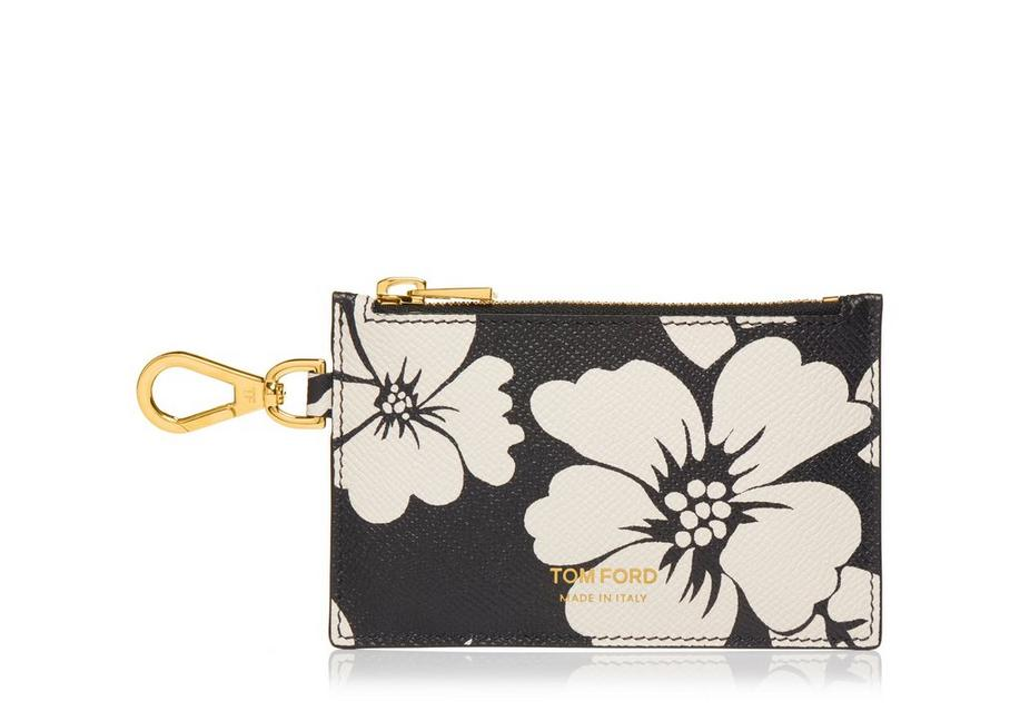SMOOTH LEATHER ZIP CARDHOLDER WITH NECK STRAP A fullsize