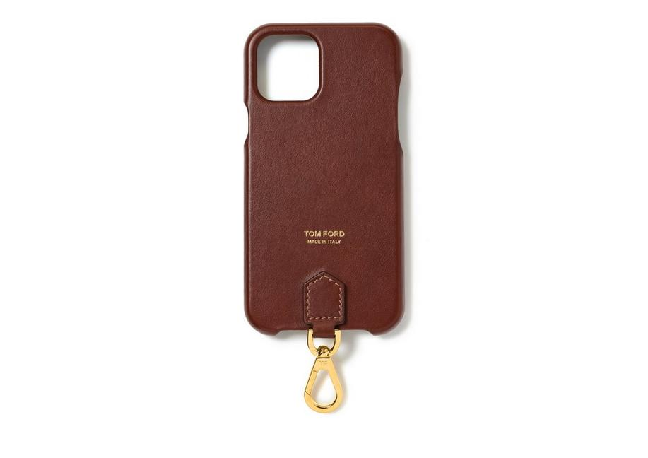 SMOOTH LEATHER IPHONE CASE WITH NECK STRAP A fullsize