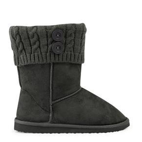 Grey Microfiber Boots