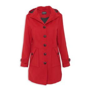 Red Button Coat