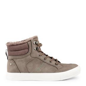 Brown Hi-Top Sneakers