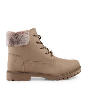 Pink Fur Hiking Boot