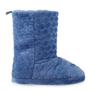 Blue Plush Slipper