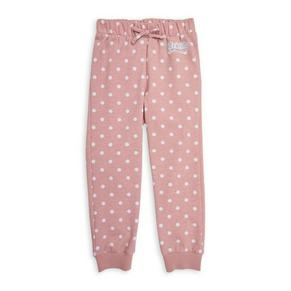 Girls Pink Spotted Joggers