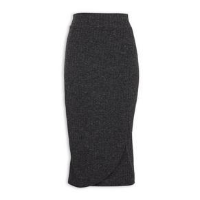Charcoal Wrap Skirt