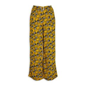 Printed Belted Pants