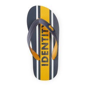 Yellow Striped Flip Flop