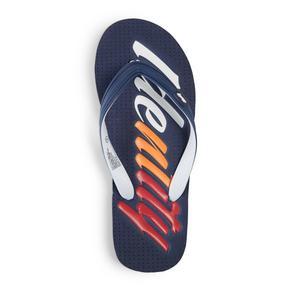 Navy Branded Flip Flop