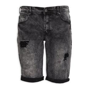 Charcoal Denim Shorts