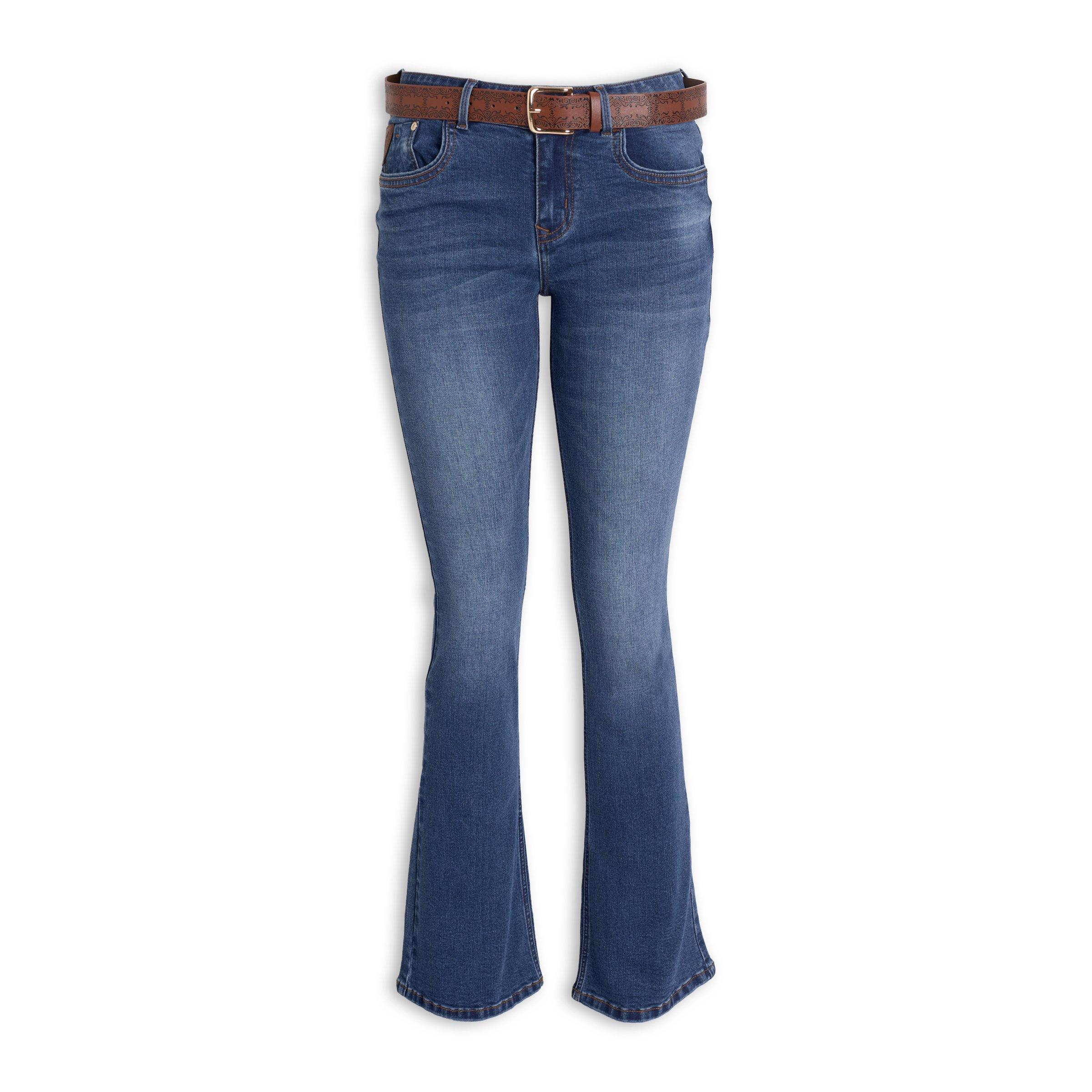 2204939477e Belted Bootcut Jeans